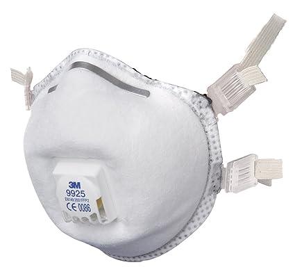 3 M 9925 humos soldadura mascarilla con válvula de polvo Máscara FFP2 (paquete de 2