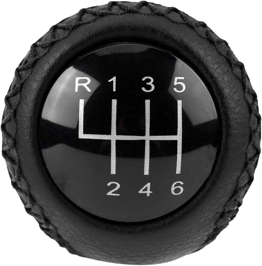 Schaltknaufabdeckung aus Leder f/ür Mazda 3 BK BL//5 CR CW//6 II GH 05-14 Schaltknaufabdeckung aus Leder