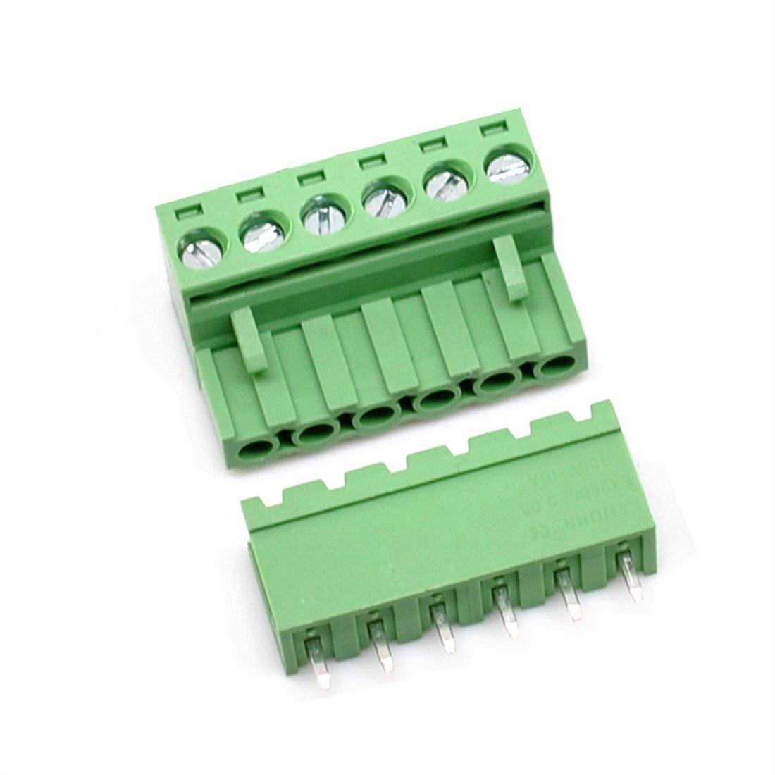 Willwin 5.08/mm Pitch Male Femelle PCB bornier /à vis 8P x 10 Set