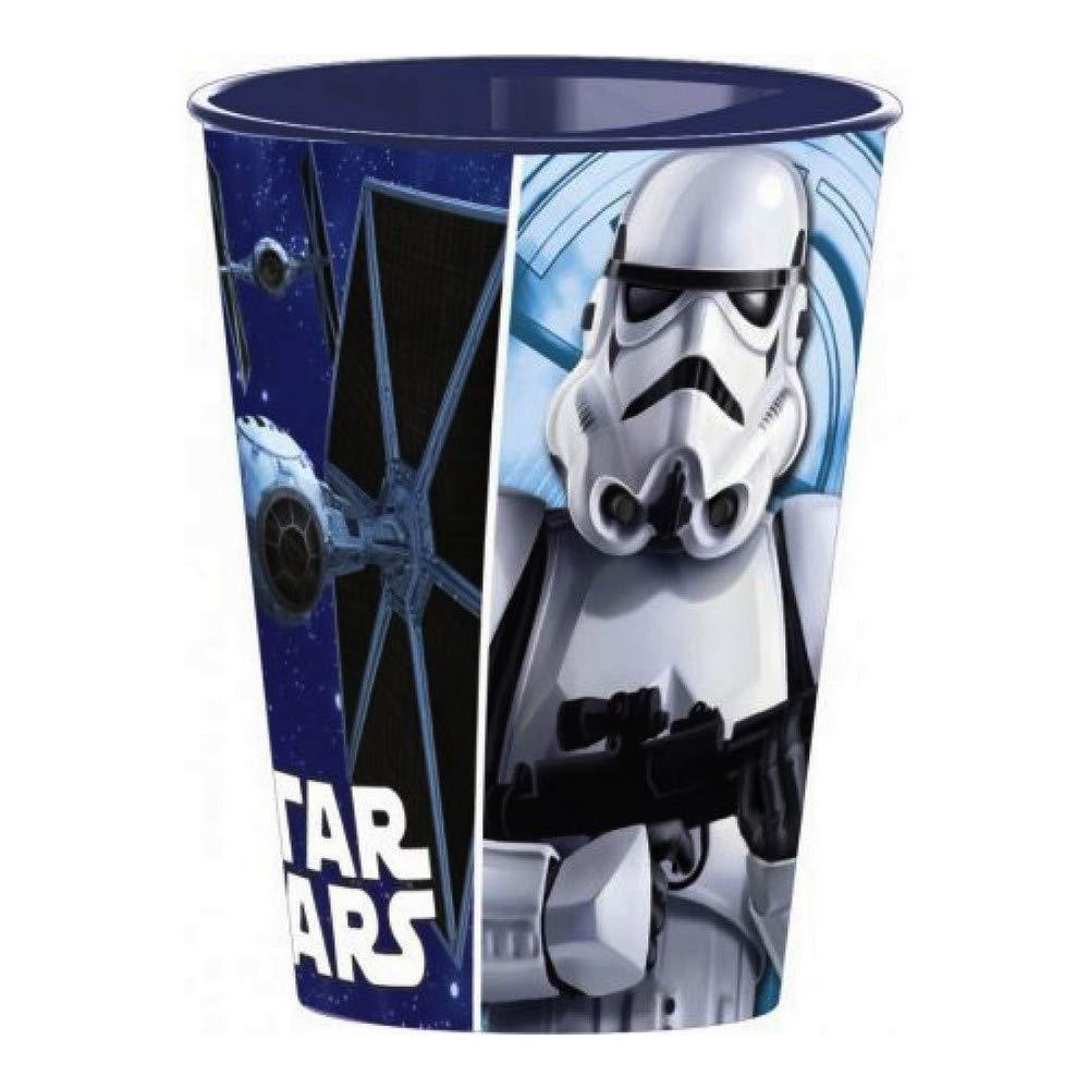 GUIZMAX Gobelet Star Wars Verre Plastique Disney Enfant Bleu