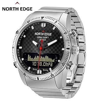 Fcostume North Edge Gavia PlongéE Business Montre, ÉTanche Montre ConnectéE en Militaire NuméRique Relogio Compass