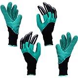 Yardsky Gardening Gloves 1 Pair with Right-Hand Claws and 1 Pair with Left-Hand Claws for Digging Waterproof Garden Outdoor Genie Golve for Women and Men