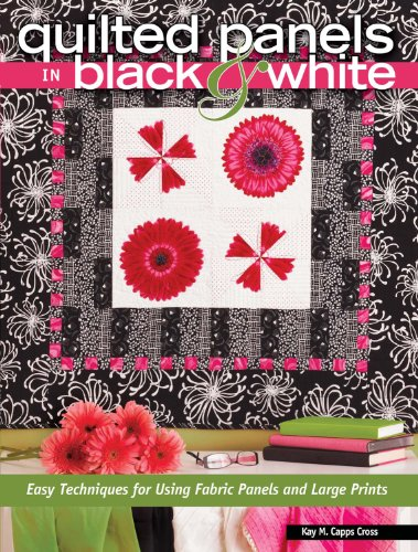 quilted panels in black and white - 3