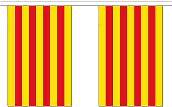 España Cataluña Poliéster Bandera Banderín 3m (10) Banderitas Con ...