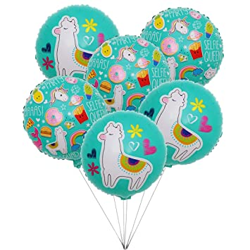 Amazon.com: 6 globos de dibujos animados de Alpaca, Kicpot ...