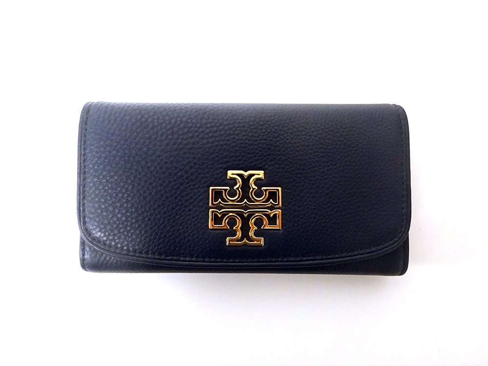 Tory Burch Britten Duo Envelope Wallet Continental Leather Hudson Bay by Tory Burch