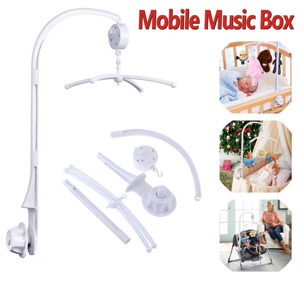 Baby Musik Mobile Bett Glocke Spieluhr F/ür Babybett Mobile Baby Krippe Mit Halter Arm