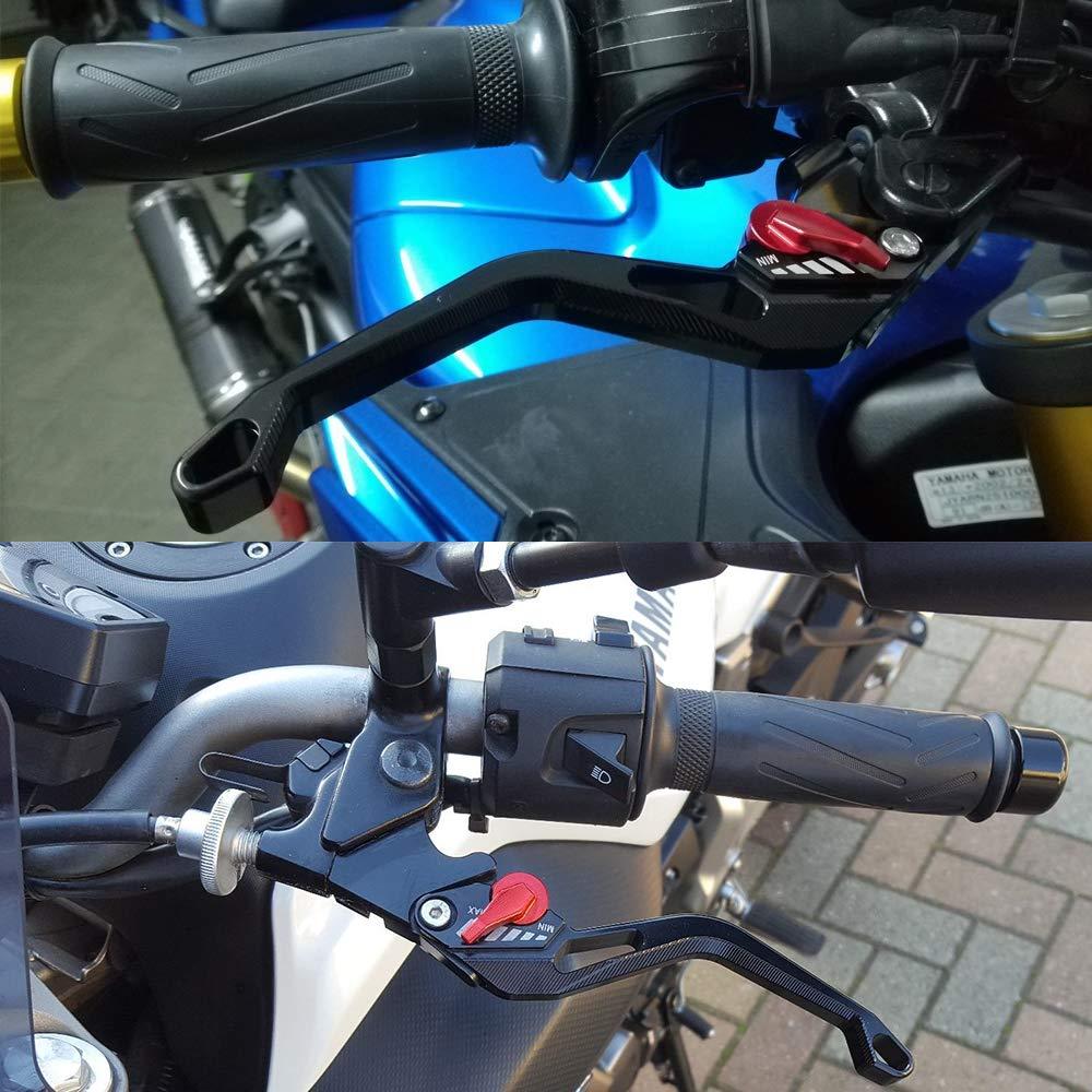 MT 09/Leviers de frein et d/'embrayage courts et r/églables pour Yamaha MT09 MT 07 2013 2014 2015 2016 2017 Noir