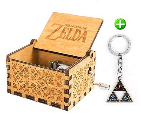 MINSOTO Caja de música de Madera Tallada de Estilo Antiguo diseño de la Leyenda de Zelda