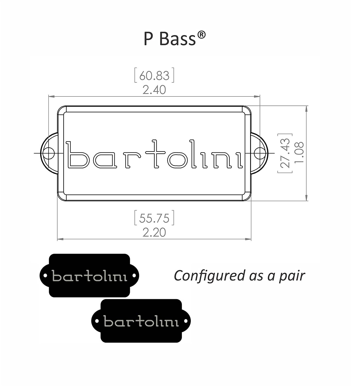 Amazon.com: Bartolini 8S Precision P-Bass 4-String Replacement Pickup NEW:  Musical Instruments