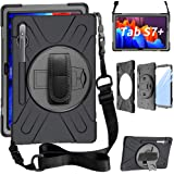 ZenRich Galaxy Tab S7 Plus Case 2020, SM-T970/T975/T976 Case 12.4 inch with S Pen Holder zenrich Case with Screen Protector S