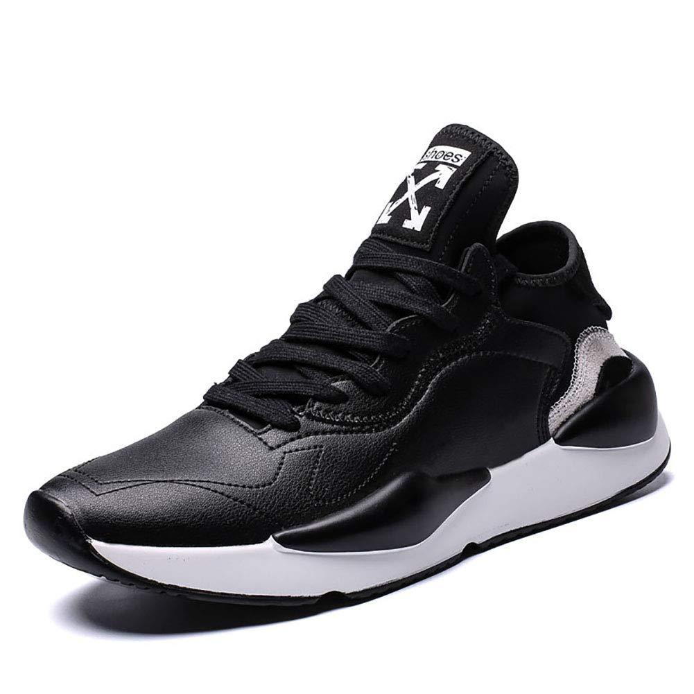FHTD Herrenschuhe Frühling Herbst Mode Komfort Sportschuhe Leichte Laufschuhe Für Sportliche Casual Outdoor schwarz