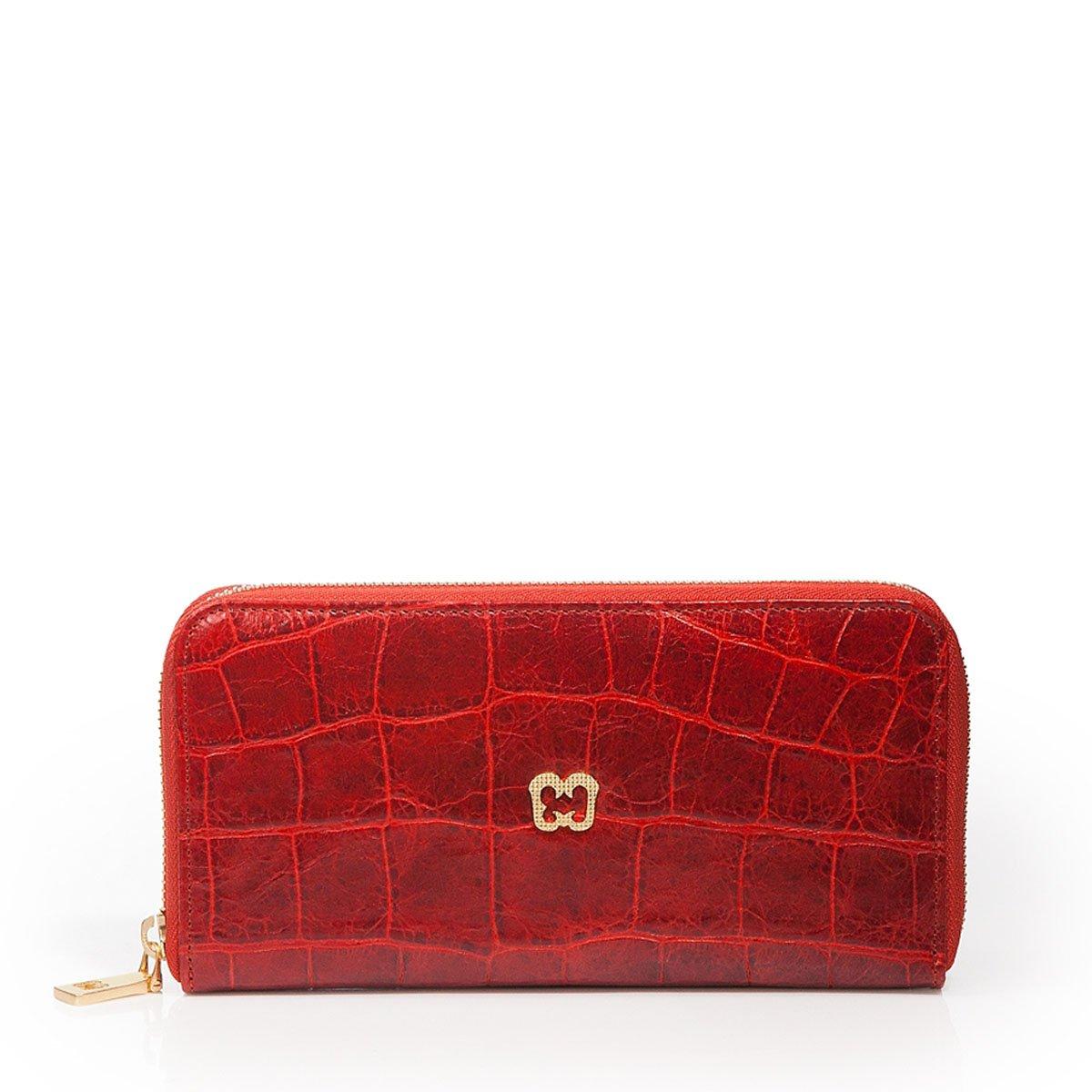 Eric Javits Luxury Fashion Designer Women's Handbag  Zip Wallet  Red