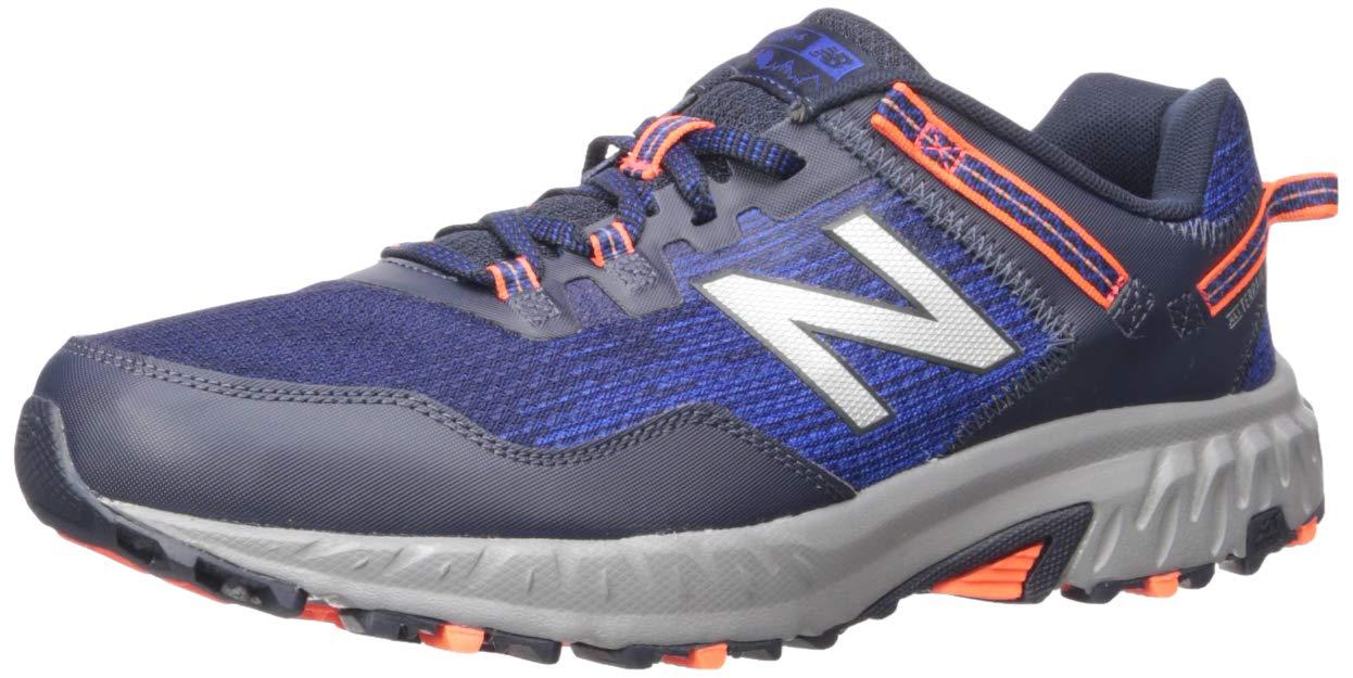 New Balance Men's 410v6 Cushioning Trail Running Shoe, Team Royal/Alpha Orange/Eclipse, 14 D US by New Balance