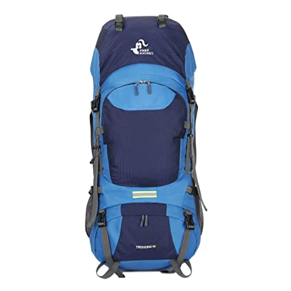 Free Knight 60L Hiking Mountaineering Camping Trekking Travel Daypack  Internal Frame Backpack Rucksack Water Resistant Outdoor Backpack(Navy  Blue) c73927daf7f53