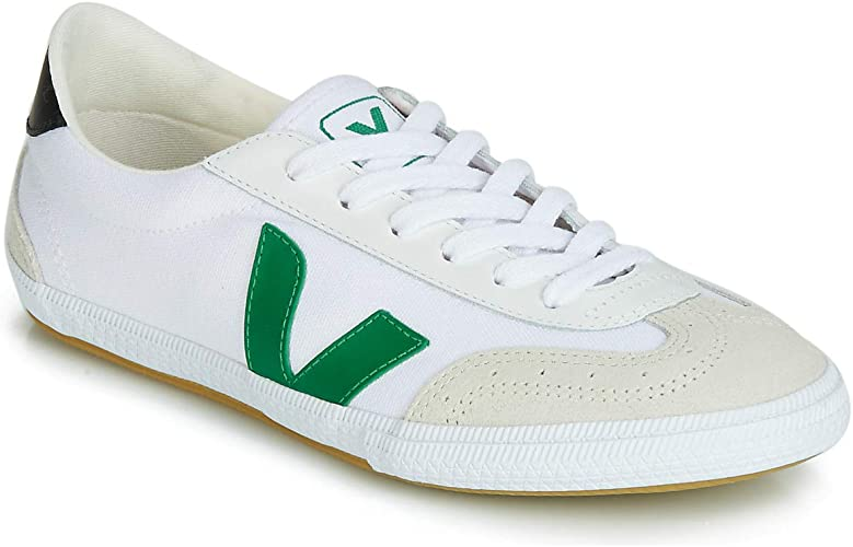 brindis Asesino Rugido  VEJA Volley Men's Fashion Trainers White/Green/Beige Low Shoes White Size:  10 UK: Amazon.co.uk: Shoes & Bags