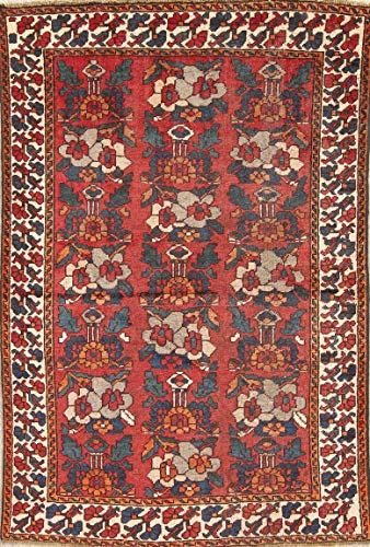 Rug Source One-of-a-Kind Floral Bakhtiari Hand Knotted Persian Wool Oriental Antique Area Rug 4x6 Red (6' 5