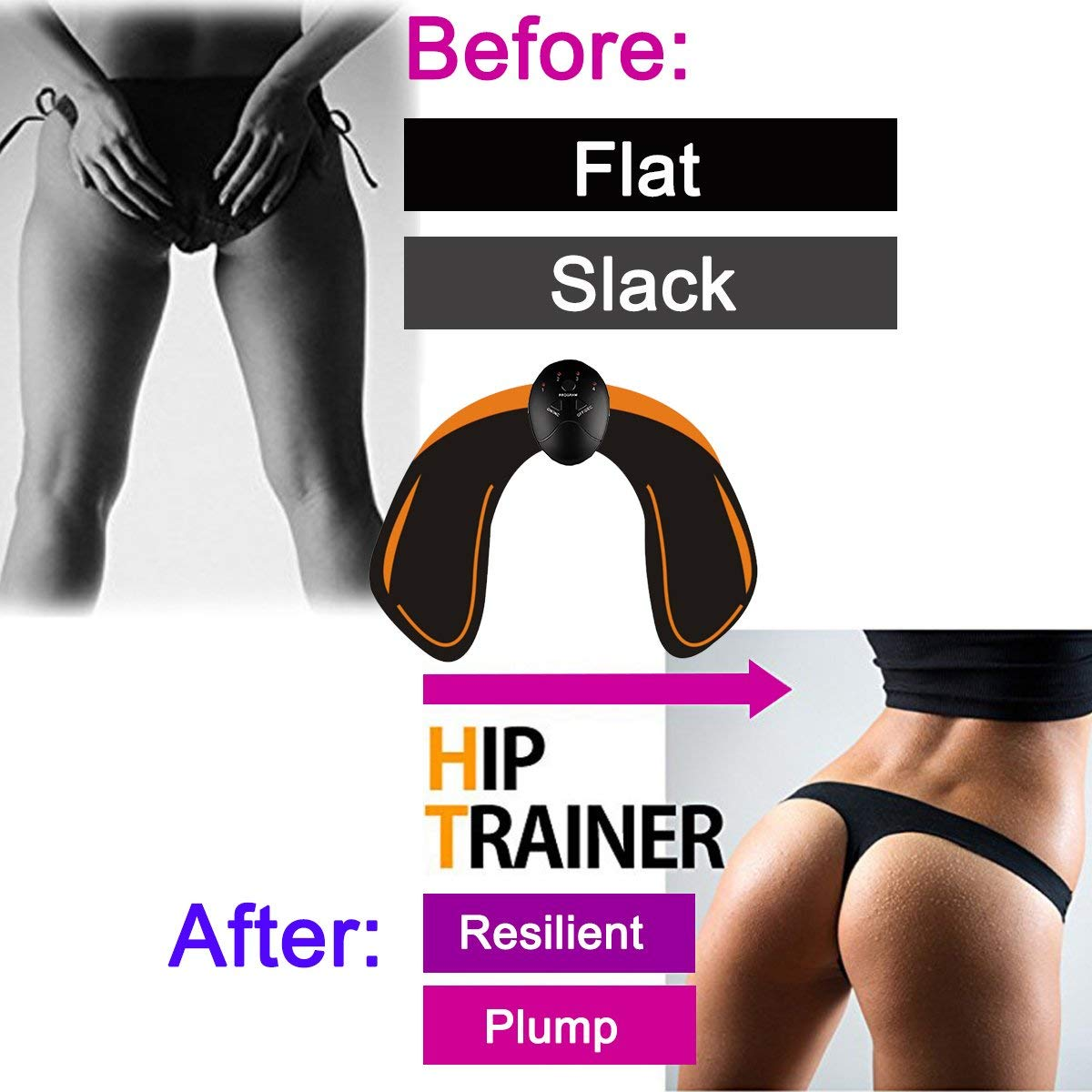 Shape Firm The Butt LZLRUN EMS Battery Operated Hip Trainer Buttocks Lifting-Beauty Machine Helps to Lift