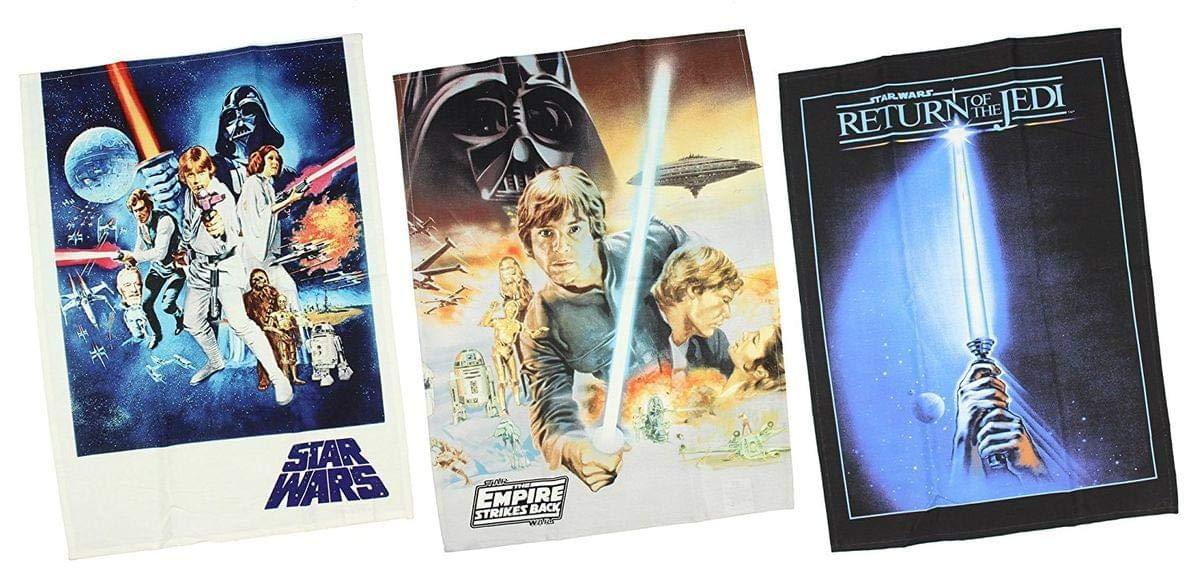 Star Wars Trilogy Posters Kitchen Towel 3 Piece Set