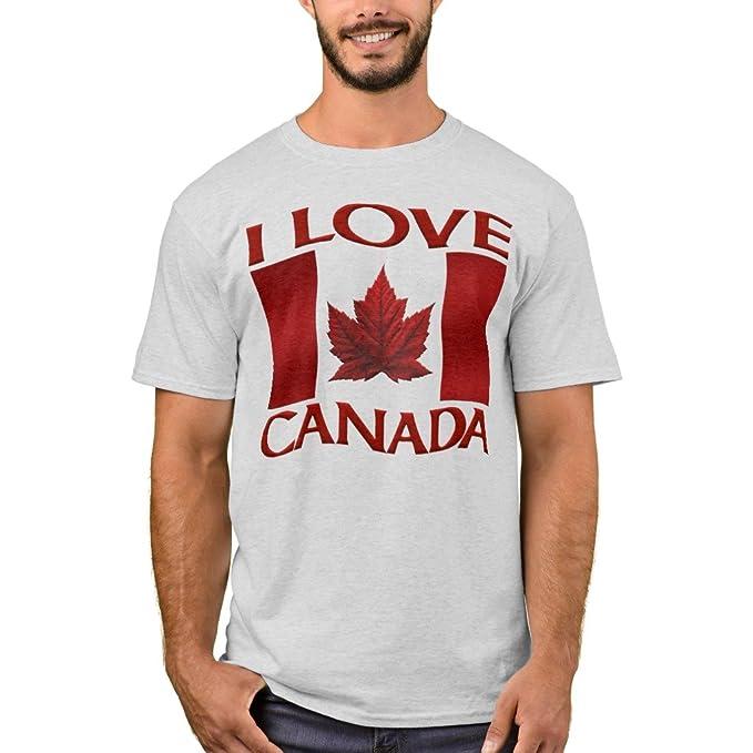 9eec0349d Zazzle Men's Basic T-Shirt, I Love Canada T-Shirt Kid's Souvenir Canada