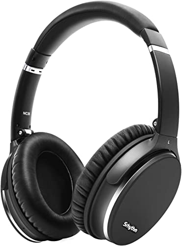 Noise Cancelling Headphones Wireless Bluetooth 5.0,Fast Charge Over-Ear Lightweight Srhythm NC35 Headset with Microphones,Mega Bass 40 Hours Playtime -Low Latency