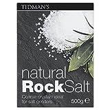 Tidman's Natural Rock Salt (500g) - Pack of 2