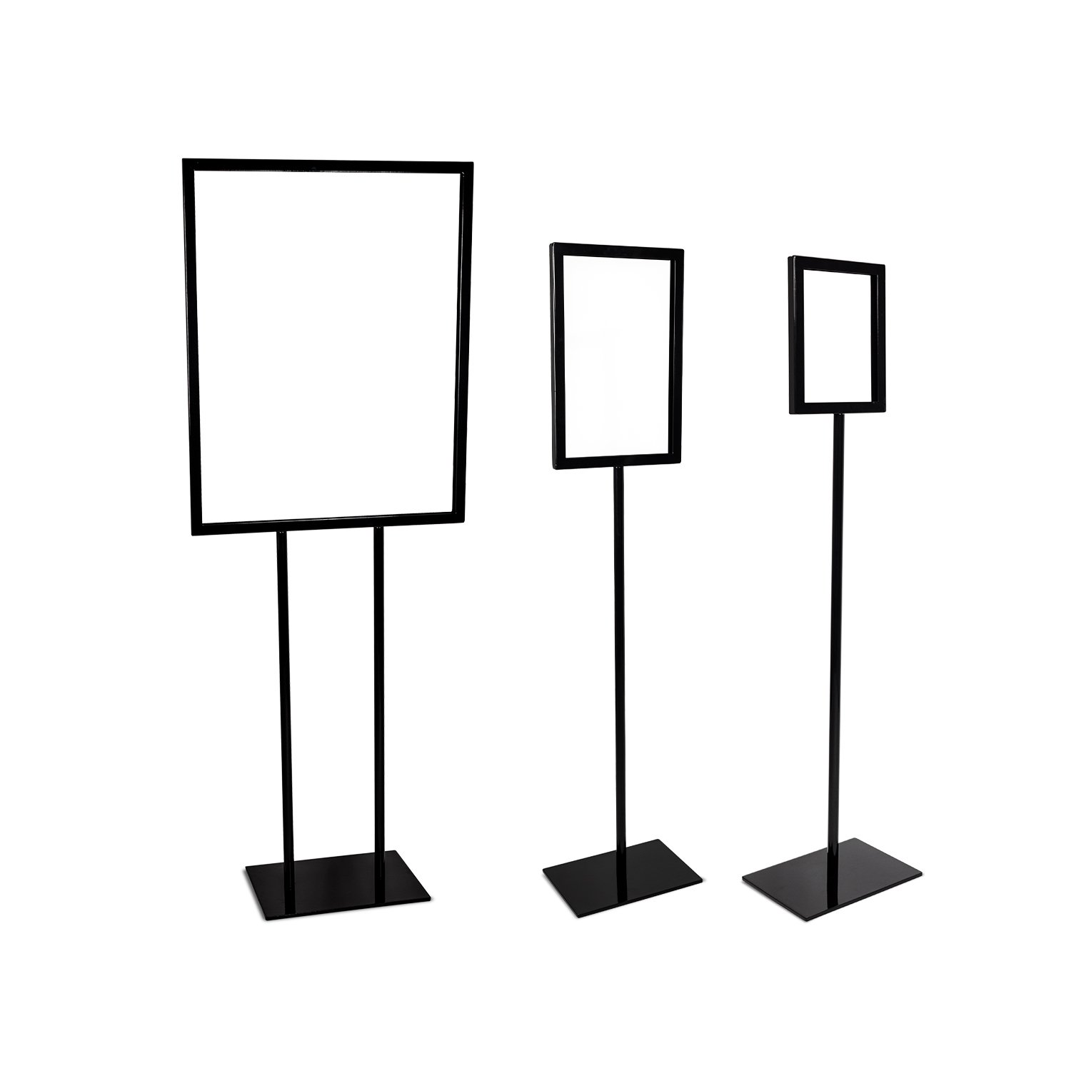Source One Deluxe 22 x 28, 11 x 17, 8 1/2 x 11 Inch Floor Standing Sign Holders Multiple Colors Black, White & Gray Heavy Duty Weighted Metal (22 x 28 Inch, Black) by SOURCEONE.ORG (Image #4)