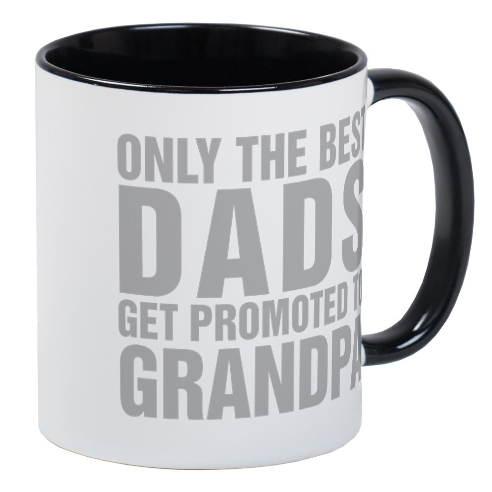 a564e7ed Amazon.com | CafePress - Only The Best Dads Get Promoted To Grandpa Mugs -  Unique Coffee Mug, Coffee Cup: Coffee Cups & Mugs