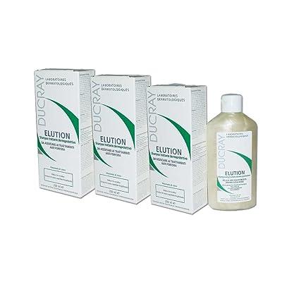 3x ducray elution–Shampoo trattante dermoprotettivo de 200ml–Lenitivo
