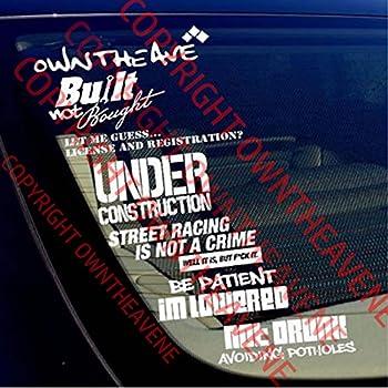 Jdm decal bomb sticker pack lot of 7 drift stance euro lowered vinyl car srnc