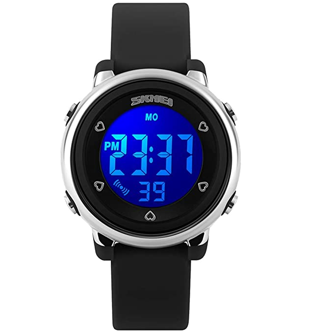 Kids Digital Sport Waterproof Watch for Girls Boys, Kid Sports Outdoor LED Electrical Watches