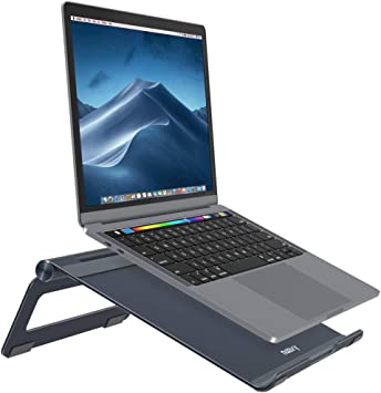 Adjustable Angle and Lightweight Color : B Work Anywhere Travel Laptop Stand Portable Universal Adjustable Ergonomic Tray Holder Mount for Laptop//Tablet
