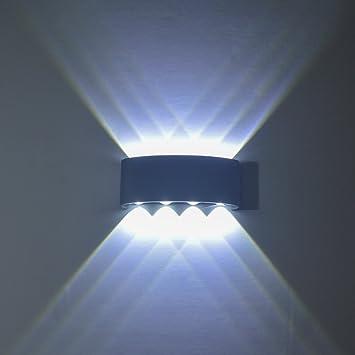 Wandleuchte LED Innen, PHOEWON 8W Modern LED Licht Wandlampe ...