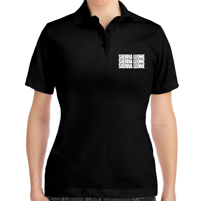 Sierra Leone three words Women Polo Shirt