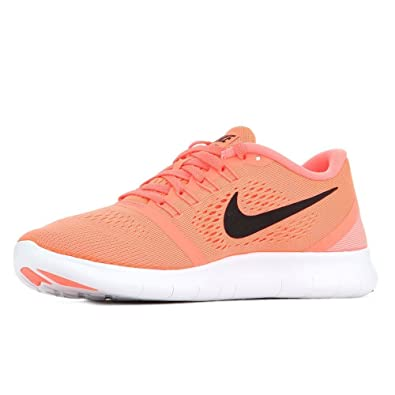 Nike Women's Free RN Running Shoes (6 B(M) US, Bright Mango