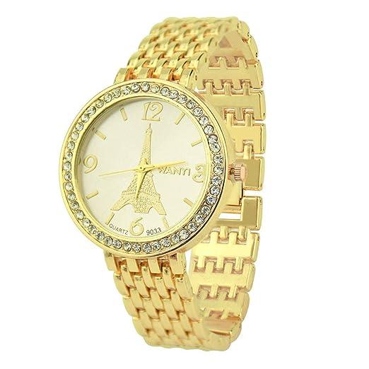 Reloj Digital Mujer, BOBOLover Pulseras Mujer Reloj con Movimiento Cuarzo Pulsera de Cuarzo Analógico con Correa de Acero Inoxidable Clásico Regalo para ...