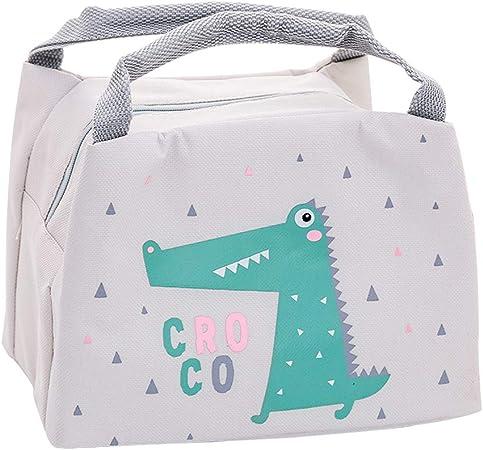 Oyachic Bolsa Termica Bolsas de Almuerzo Lunch Bag Linda Mascota Bolsas de Cremallera Bolsa de Tela Algodon Merienda Impermeable Portátil (Cocodrilo): Amazon.es: Hogar