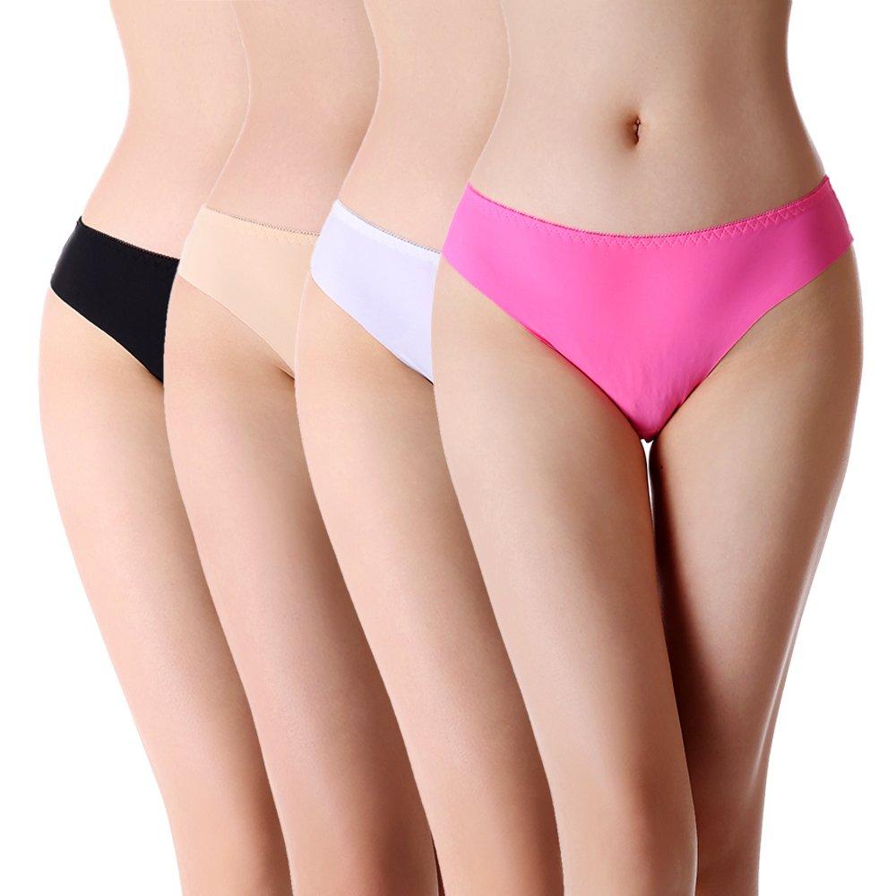 cdad2ff8d Women s Seamless No Show Laser Cut Panties (Bikini and Thong Styles) at  Amazon Women s Clothing store