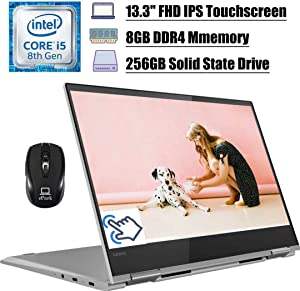 "Premium 2020 Lenovo Yoga 730 2 in 1 Laptop, 13.3"" FHD IPS Touchscreen, 8th Gen Intel Quad-Core i5-8250U (Beat i7-7500U), 8GB DDR4 256GB SSD, Thunderbolt Backlit BK FP Win 10 + ePark Wireless Mouse"
