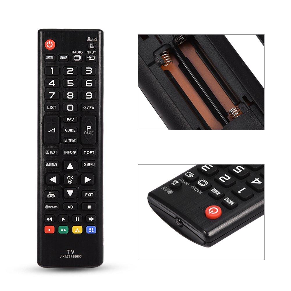 AKB73715603 Mando a Distancia Universal para LG, reemplazo del Control Remoto para LG TV: Amazon.es: Electrónica