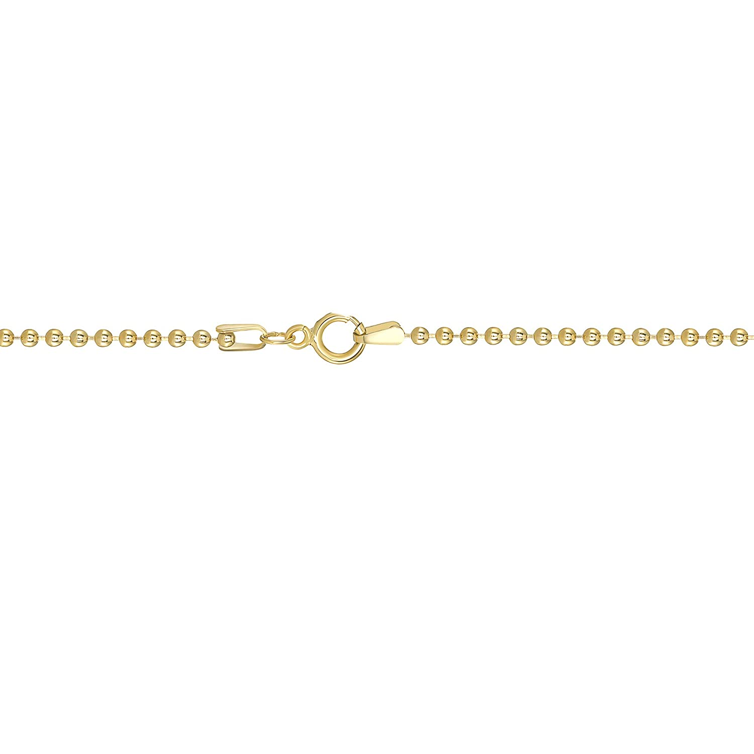 20-24 TousiAttar 14k Gold-Filled Ball Beaded Chain 1.5MM Necklace Gauge 14 Pendant for Jewelry 16-18 30-36 Inches Finish Chains