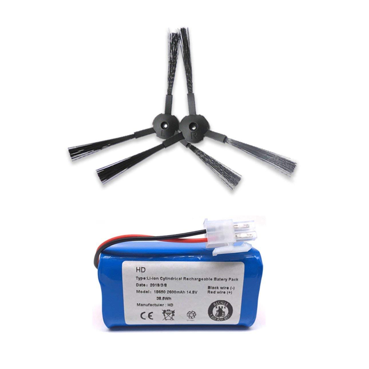 Ballylelly Recargable para ILIFE Batería + Filtro de Cepillo 14.8V ...