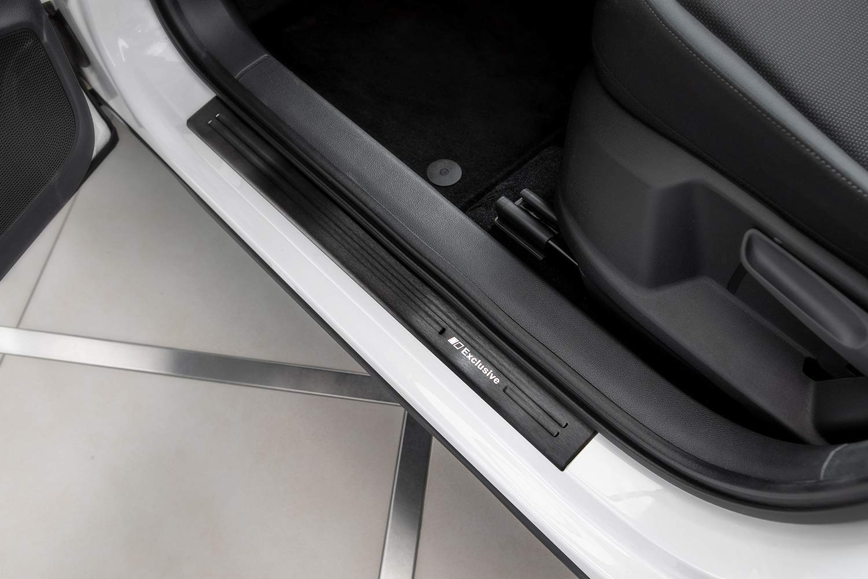 mehrere Farben w/ählbar Farbe Edelstahl:Silber geb/ürstet Tuning-Art XF500-1 4-teiliges Einstiegsleisten Set rundum abgekantet Marken V2A Edelstahl Exclusive Logo