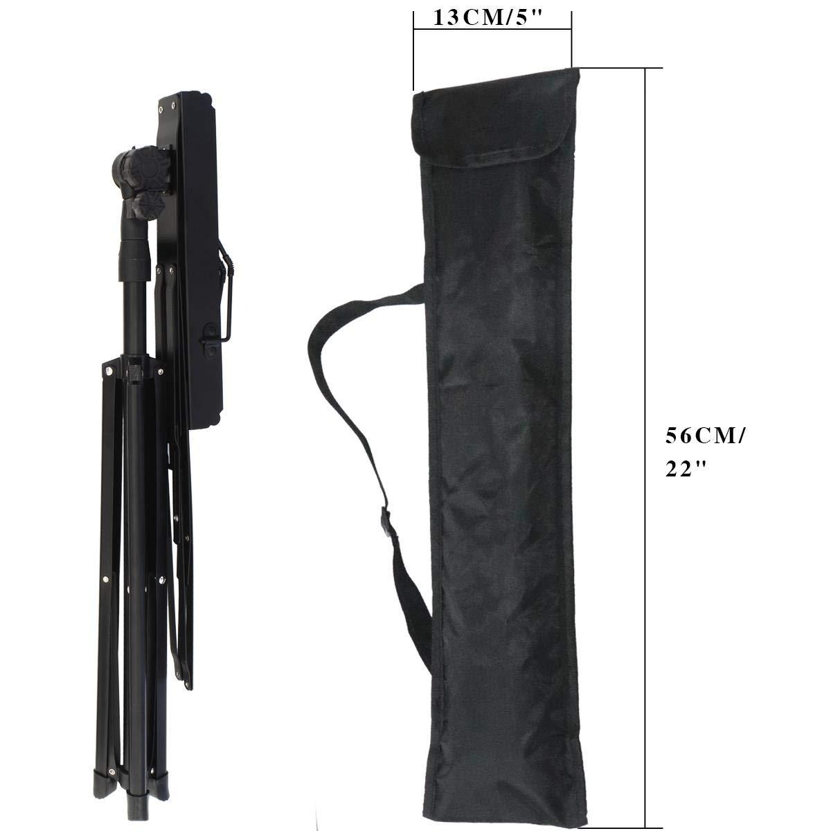 iGadgitz Xtra U6984 Metal Portable Sheet Music Stand Folding Music Holder with Carry Bag Black
