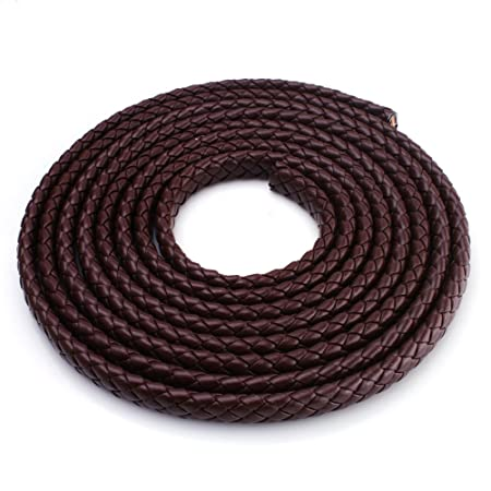 10 Meters Flat PU Leather Rope DIY Bracelet Necklace Strap Jewelry Making Crafts