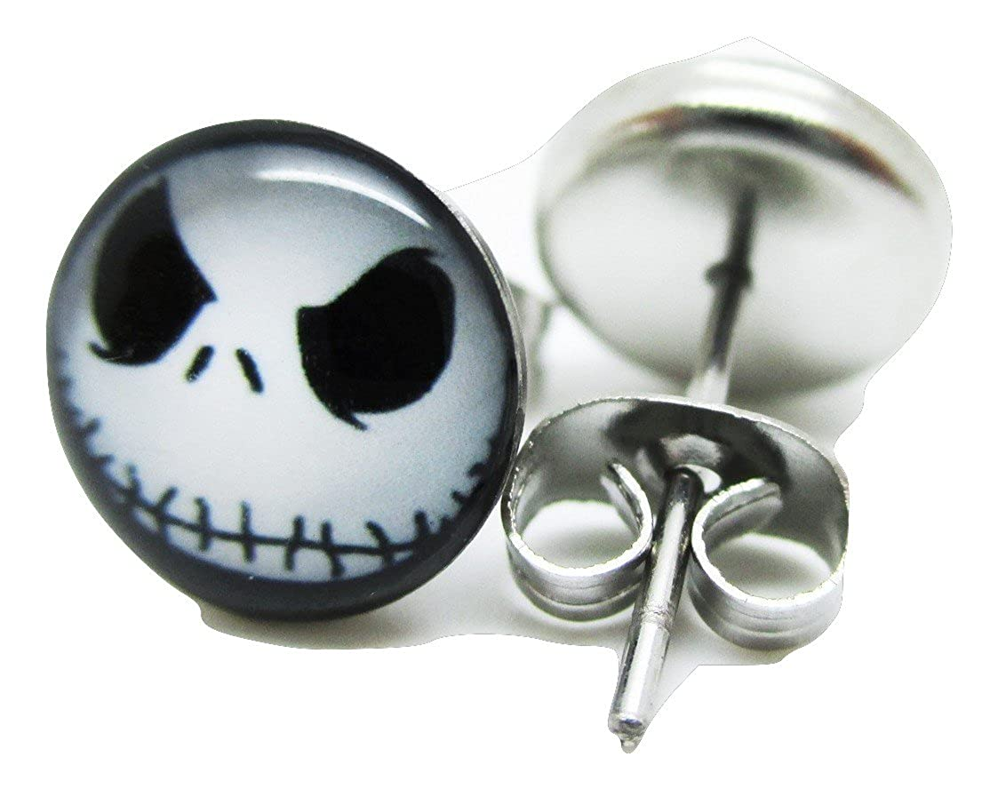 416624f61e513 Jack Face - The Nightmare Before Christmas Stud Post Earrings - New - Pair!