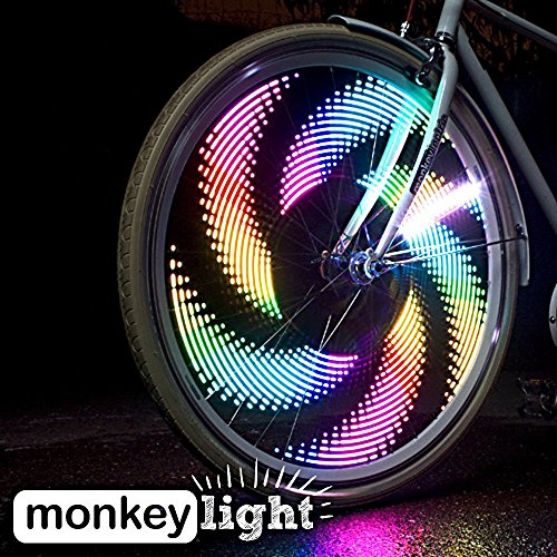 Monkey Light M232R – 200 Lumen USB Rechargeable Battery Full Color Bike Wheel Tire Spoke Light Accessory 32 LED Waterproof Ultra-Durable