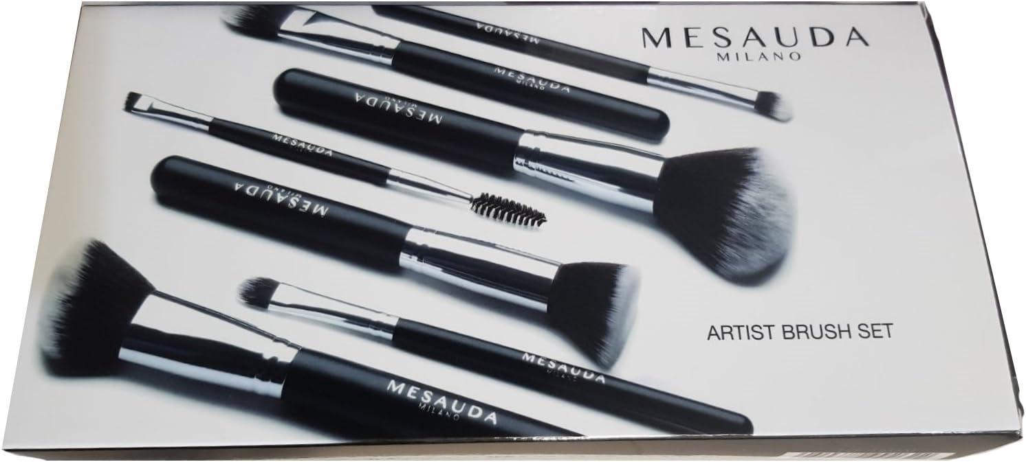 Mesauda Milano - Juego de pinceles profesionales para el maquillaje con bolsa – 10 g: Amazon.es: Belleza