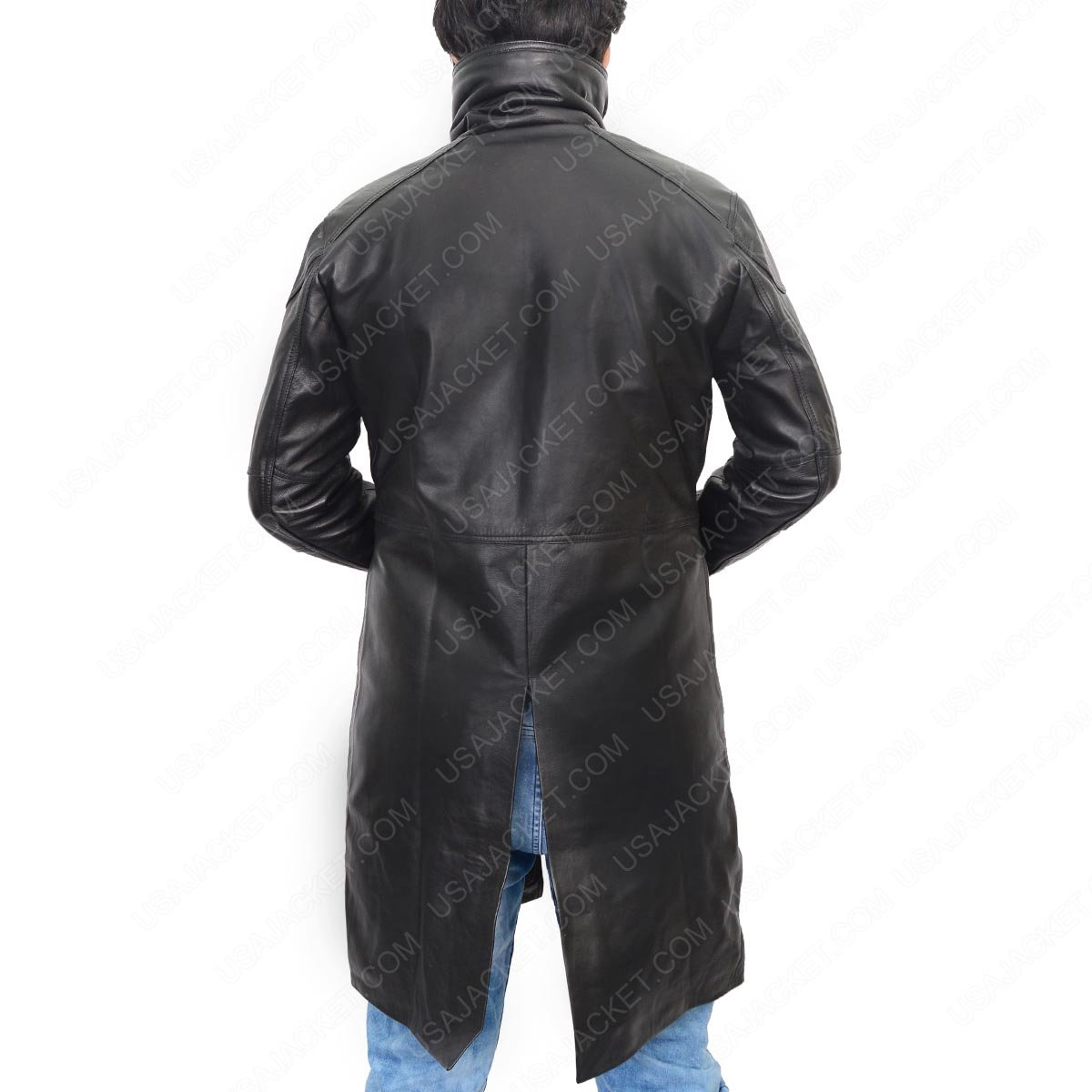 68636a2e9510 Officer K Blade Runner 2049 Costume Black Shearling Fur Leather Trench Coat   Amazon.ca  Clothing   Accessories