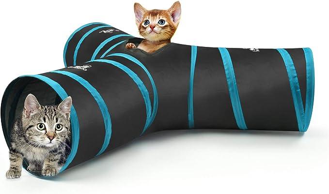 Kitten Rabbit Smoro Collapsible 4 Way Cat Tube Kitty Tunnel Bored Cat Pet Toys Peek Hole Cat Puppy Kitty